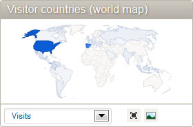 Piwik visitor tracking countries map